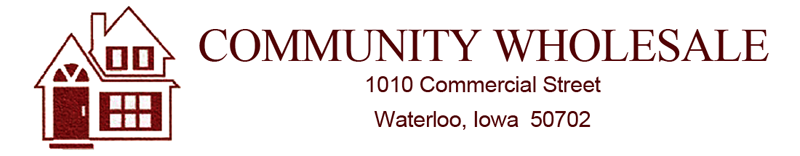 Community Wholesale Roofing, Siding, Windows, and Other Building Materials in Waterloo, Iowa.